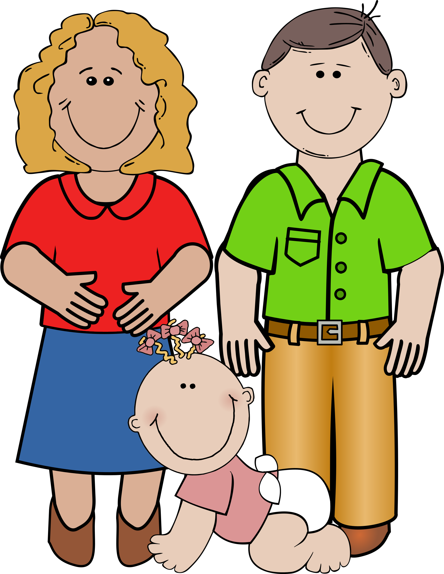 Big image png. Clipart kids family