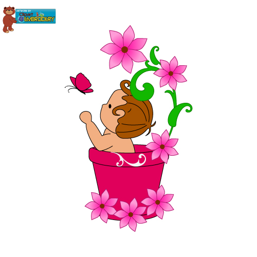 . Baby clipart flower