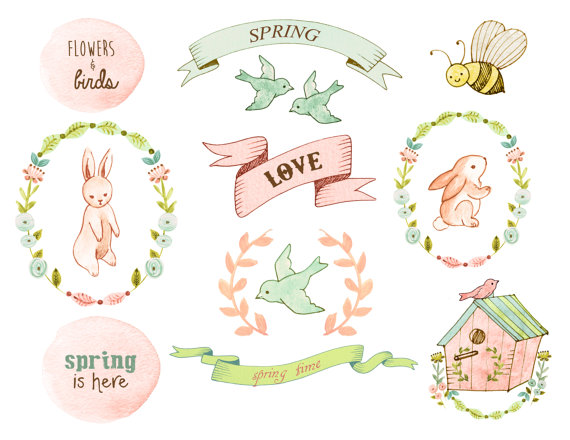 Baby clipart flower. Floral bunny spring mason