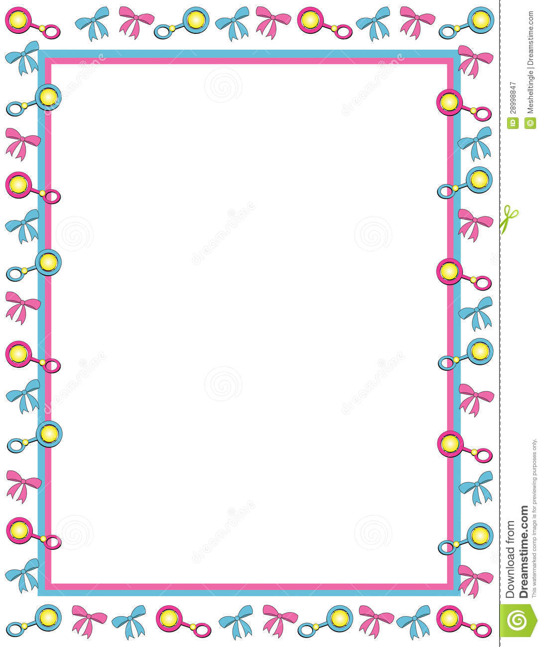 Page border incep imagine. Baby clipart frame