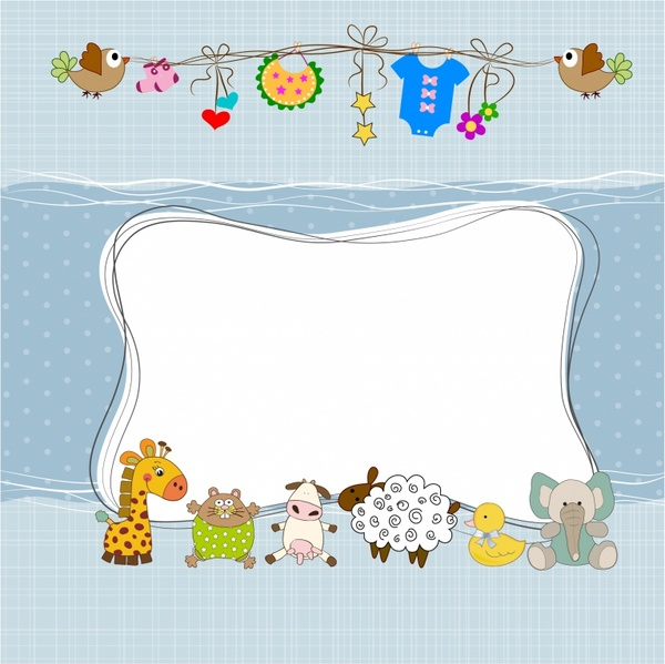 Animal free vector download. Baby clipart frame