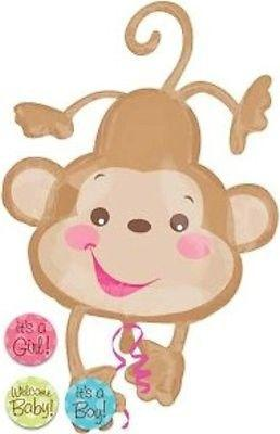 Baby clipart gender neutral. Welcome monkey brown balloon