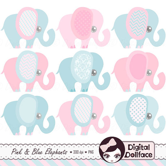 Elephant shower reveal ilxn. Baby clipart gender neutral