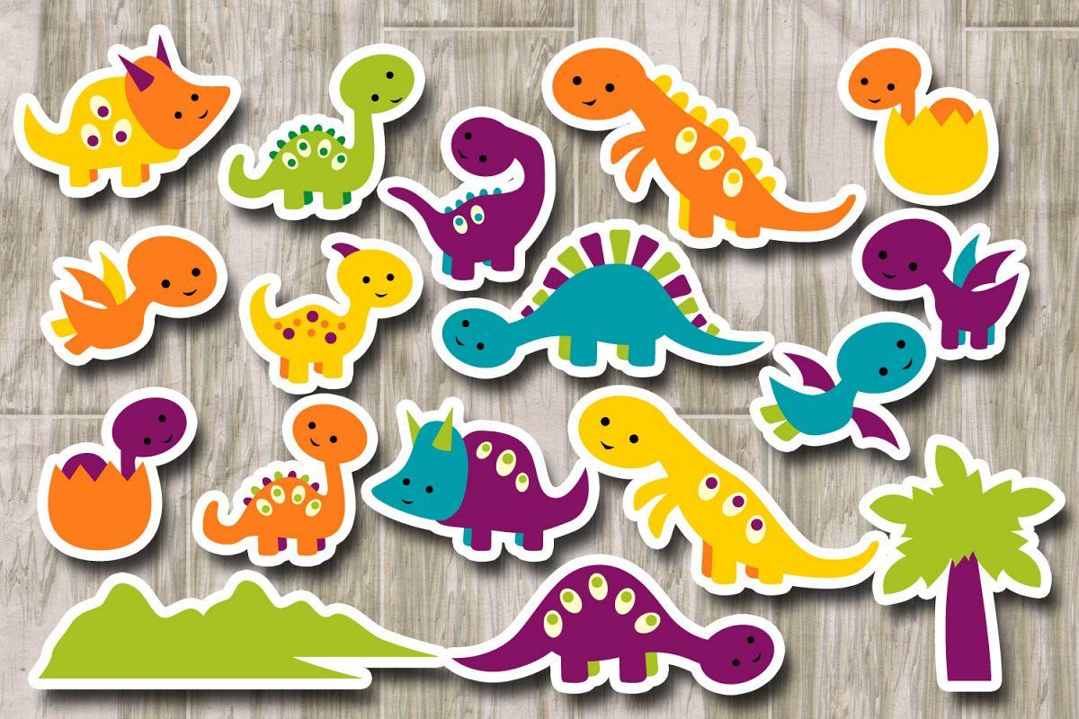 Baby clipart graphic. Cute dinosaur di design