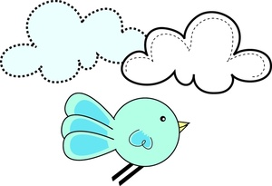 Free bluebird image design. Baby clipart graphic