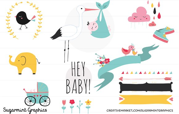 Baby clipart graphic. Shower clip art cute