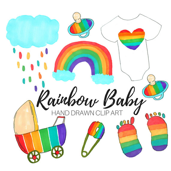 Baby clipart graphic. Shower clip art rainbow