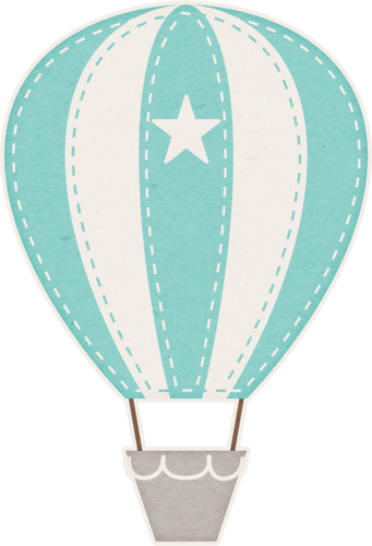 A boys life balloons. Baby clipart hot air balloon