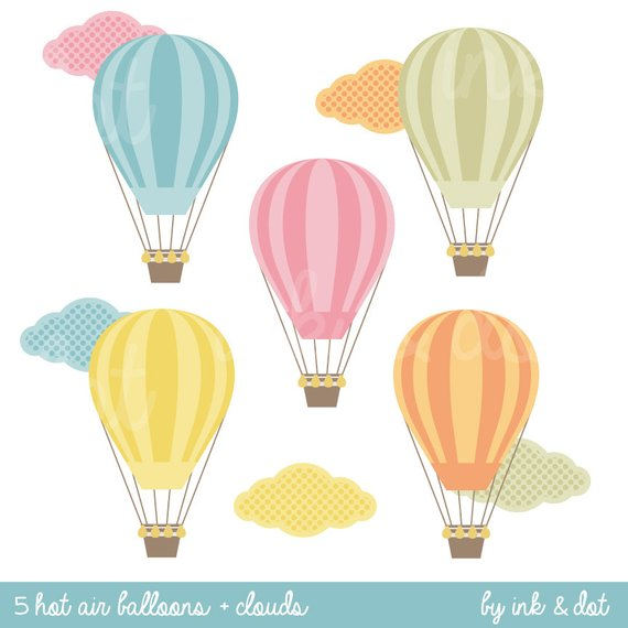 Baby clipart hot air balloon. Clip art for wedding