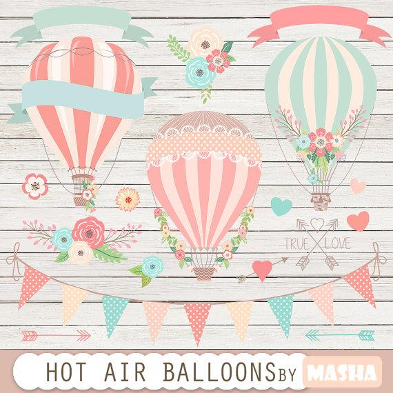 Balloons clip art for. Baby clipart hot air balloon