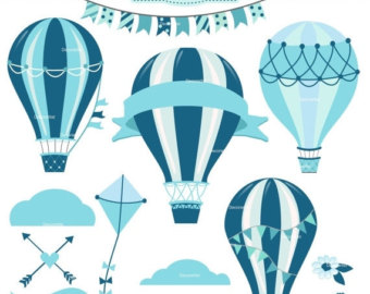 Baby clipart hot air balloon. Etsy on sale boy