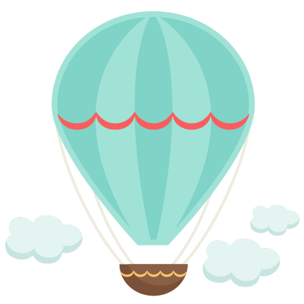 Baby clipart hot air balloon. Vintage svg cutting file