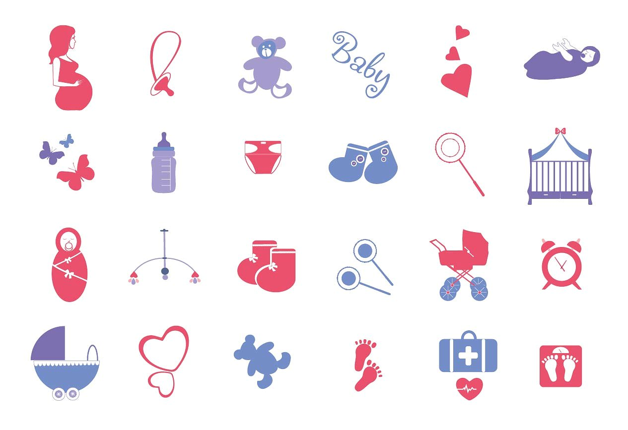 Baby clipart icon. Pregnancy and icons creative