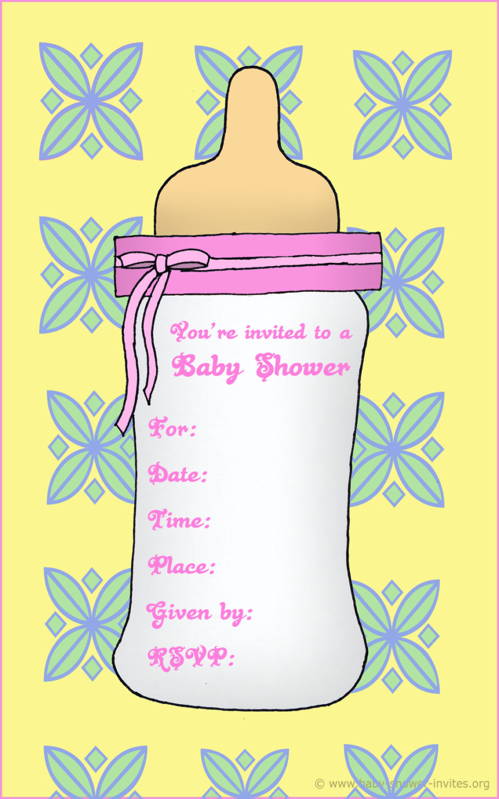 Baby clipart invitation. Free print out cards