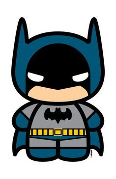Batman clipart easy. Baby cartoon superhero pictures