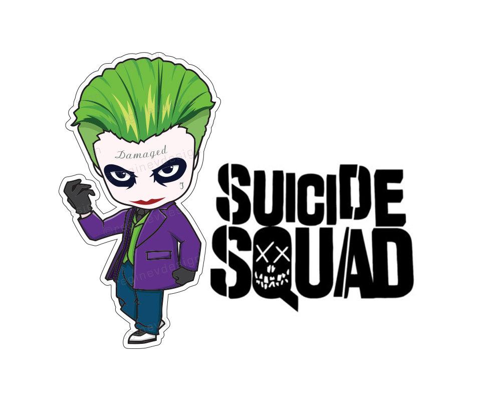 Suicide squad illustration harley. Baby clipart joker
