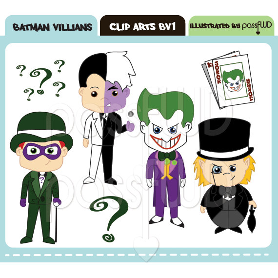 Batman Joker Face Clipart
