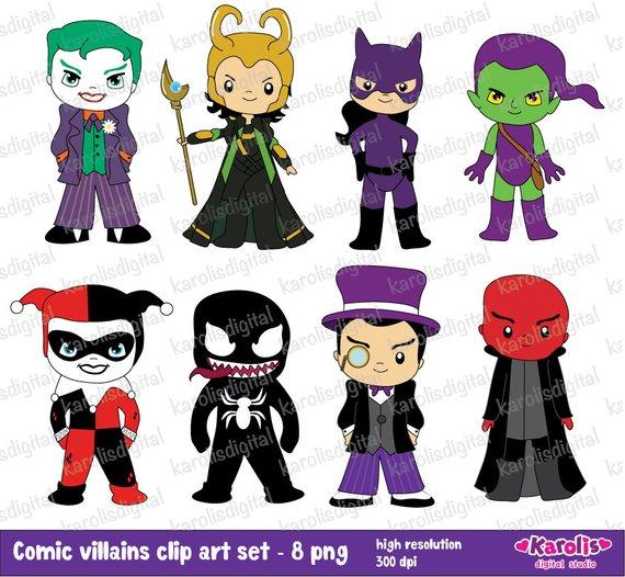 Baby clipart joker. Comic villains clip art
