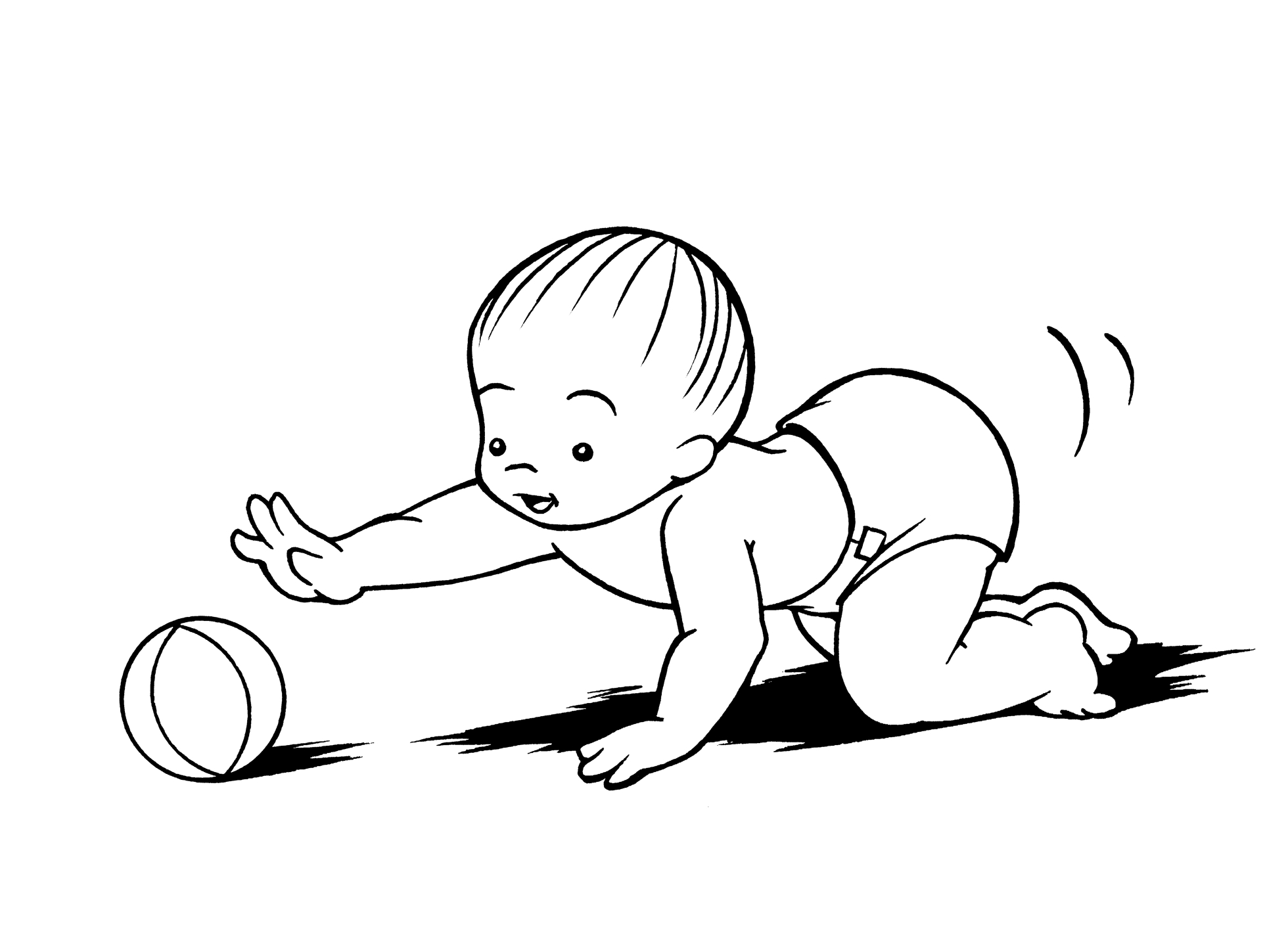 Baby clipart line drawing.  collection of crawling