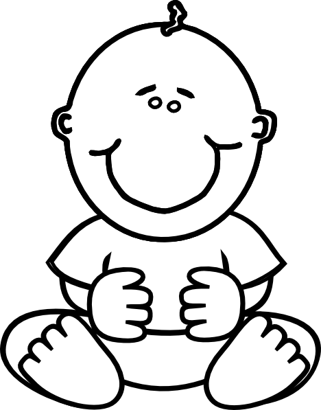 Baby clipart line drawing. Free download best on
