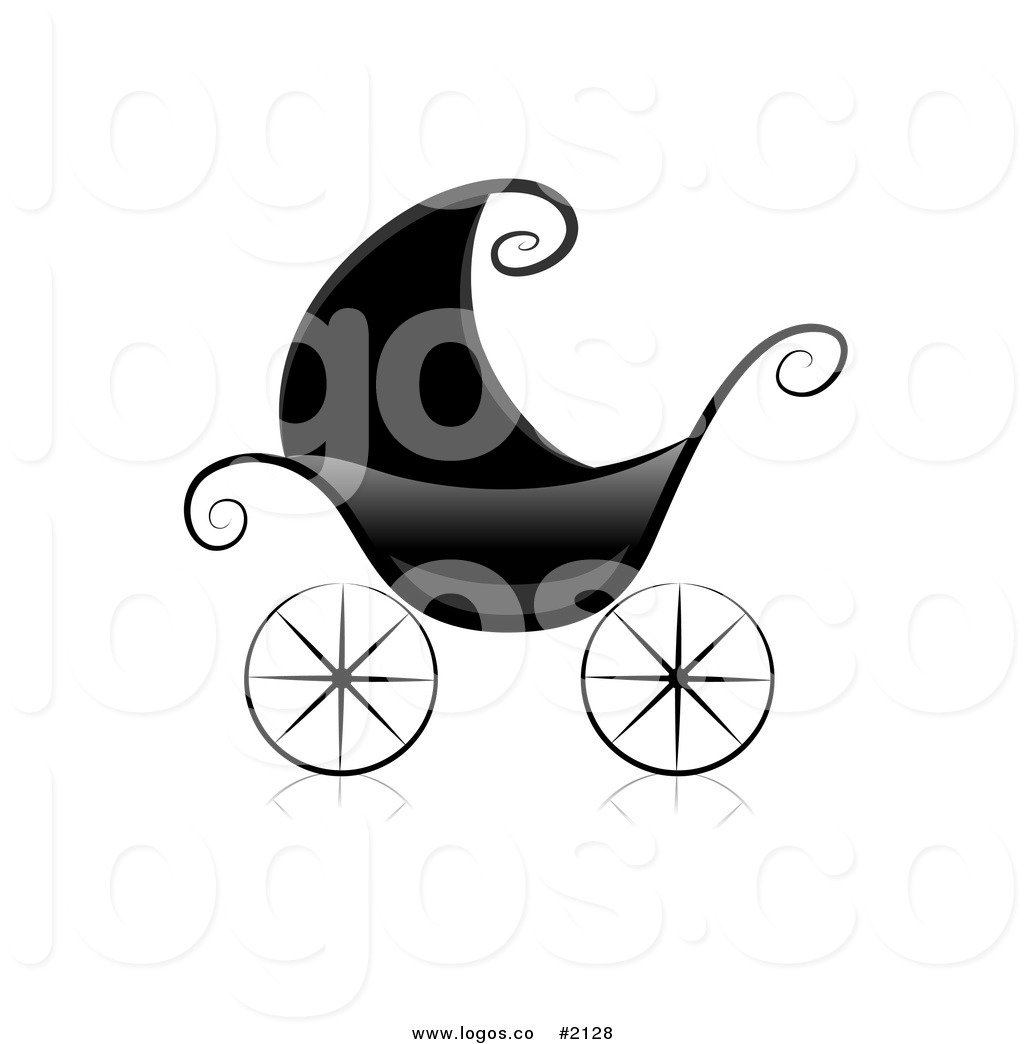 Royalty free black and. Baby clipart logo