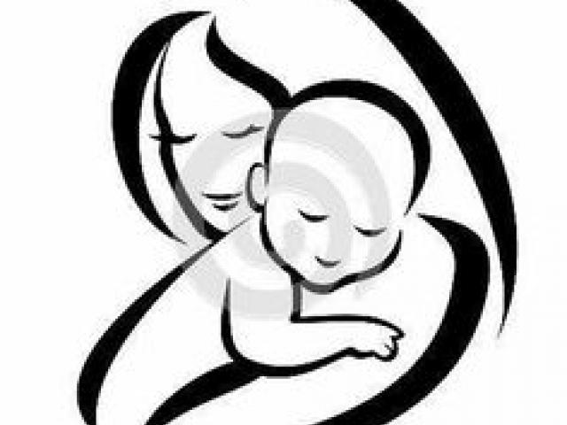 Baby clipart logo. Mother and free on