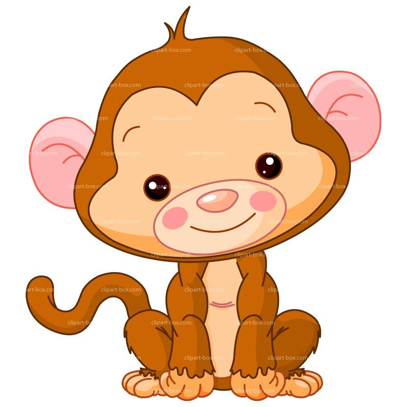 Animals clipart monkey. Baby clip art royalty