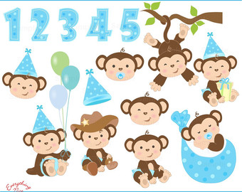 Cute from celialaudesigns on. Baby clipart monkey