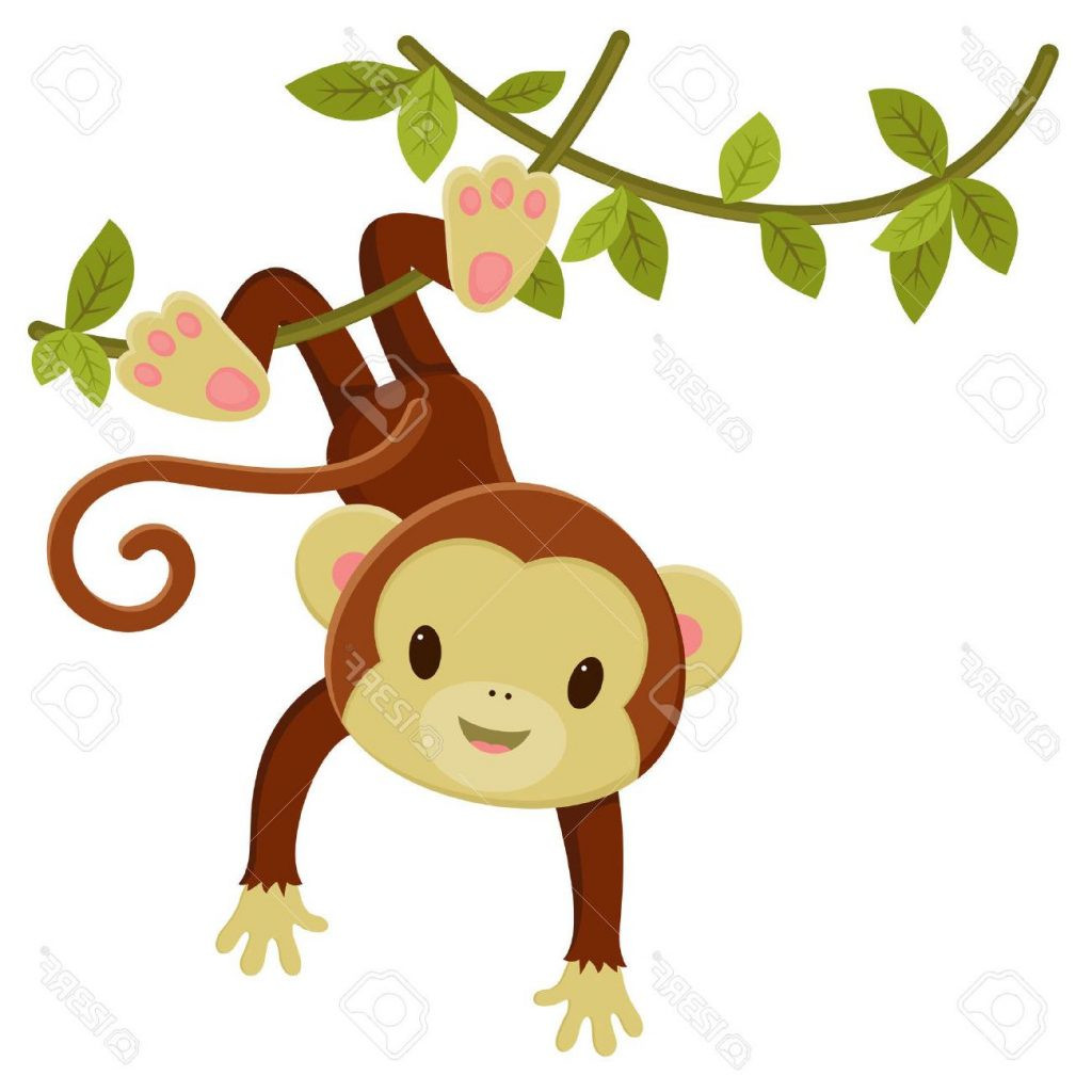 Baby clipart monkey. Hd hanging design ripping