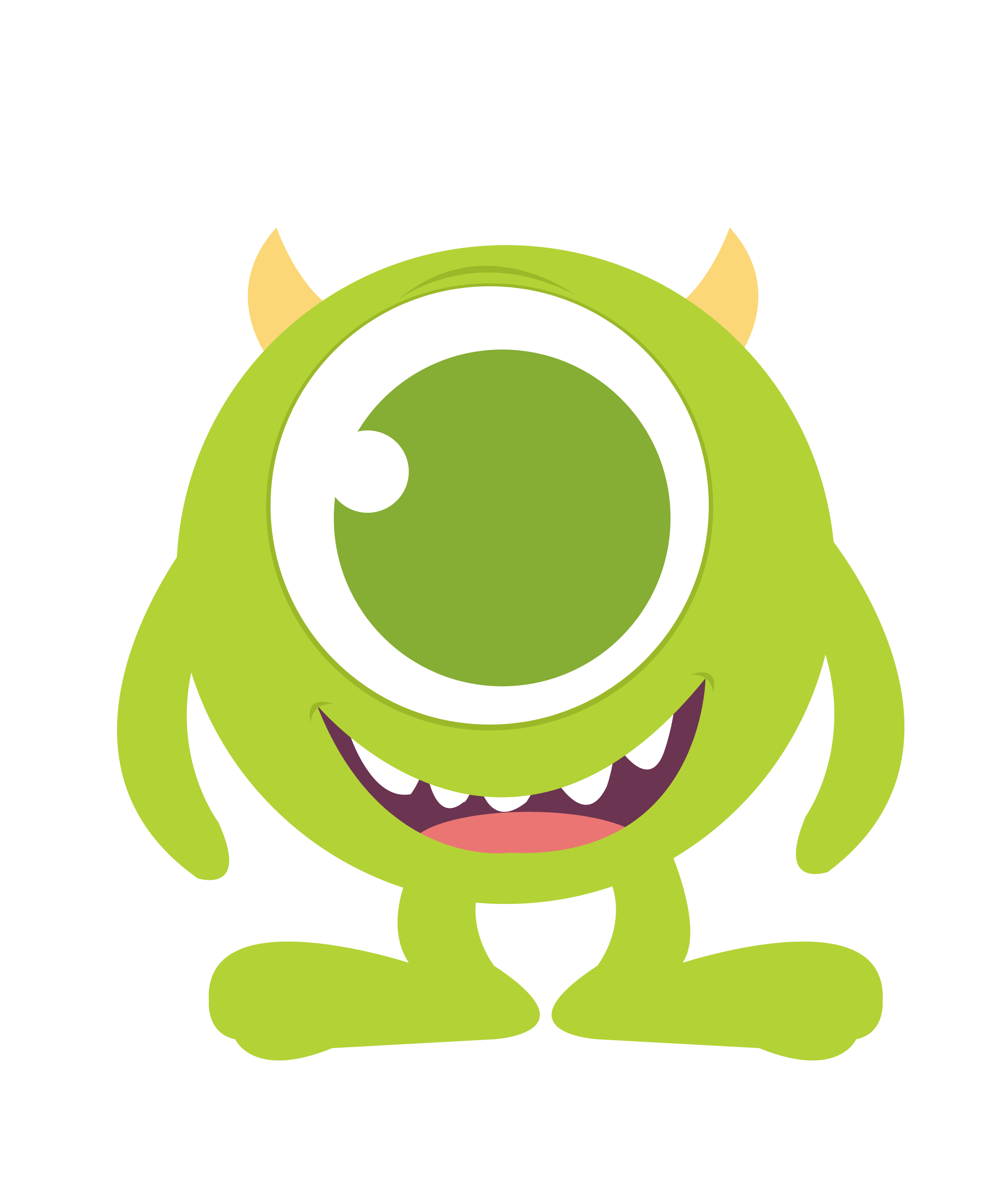 Baby mike monster inc. R clipart litter