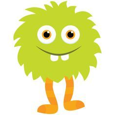 Instant download clip art. Baby clipart monster