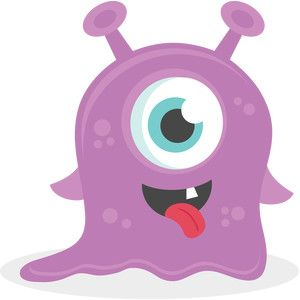 A variety of toons. Baby clipart monster