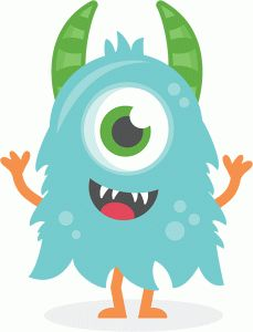 Baby clipart monster. Mike inc clipartfest boy