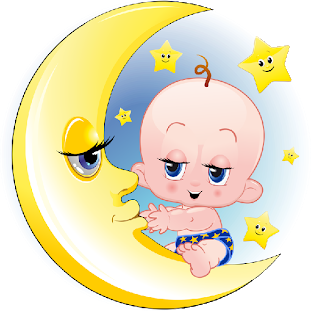 Baby clipart moon. On funny images cartoon