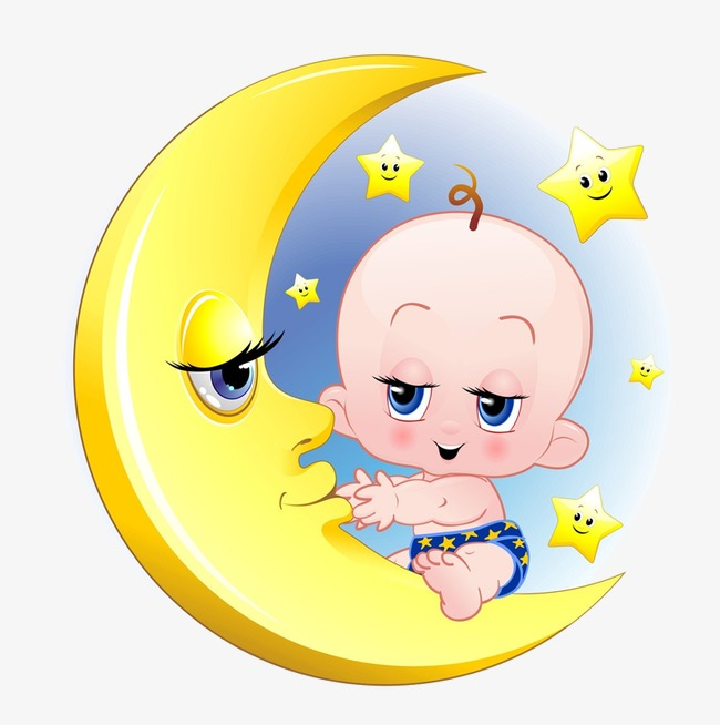 Child mother png image. Baby clipart moon