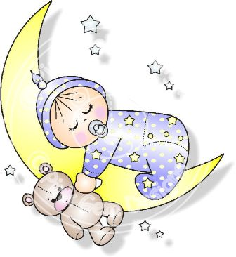 Baby clipart moon. Boy and girl digi