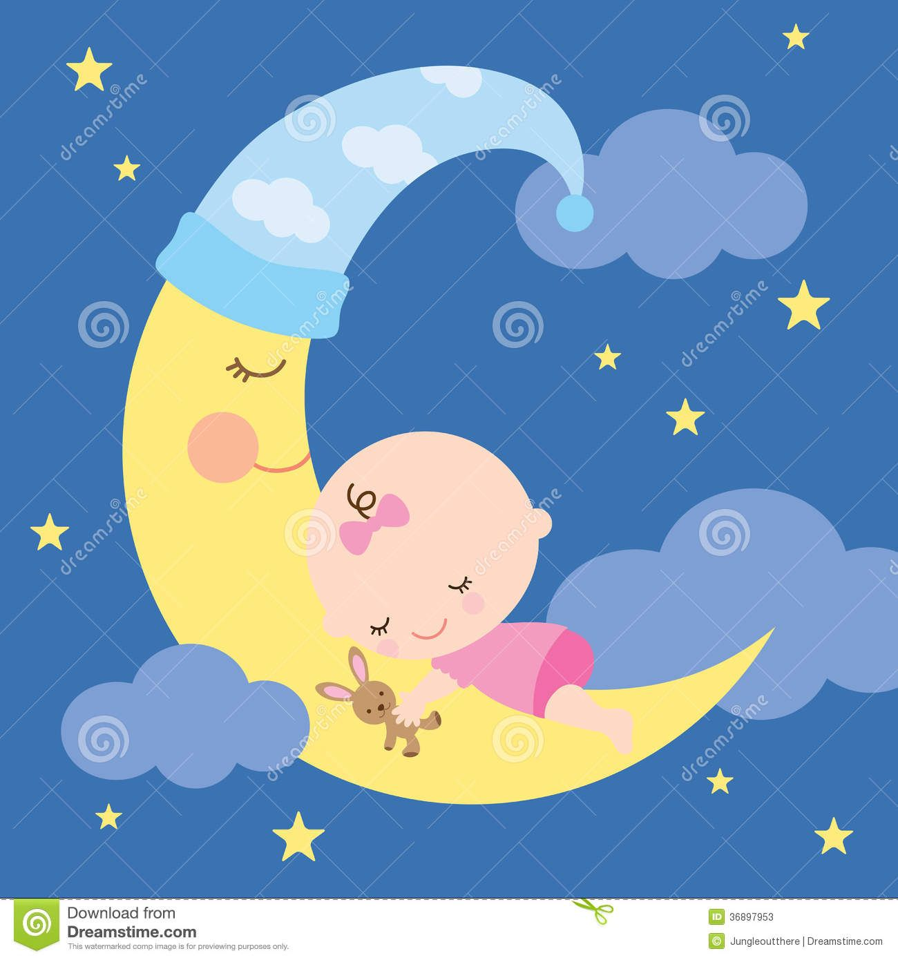 Sleeping on google search. Baby clipart moon