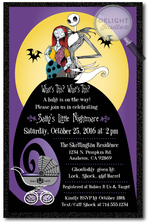 Baby clipart nightmare before christmas. Shower invitation di