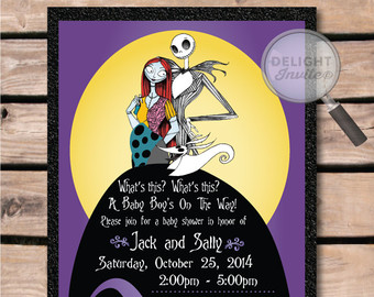 Baby clipart nightmare before christmas. Shower invitations and the