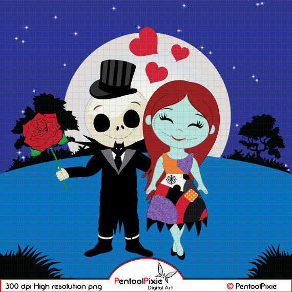 Jack skellington sally . Baby clipart nightmare before christmas