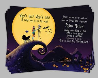 Baby clipart nightmare before christmas. Shower invitation boy blue