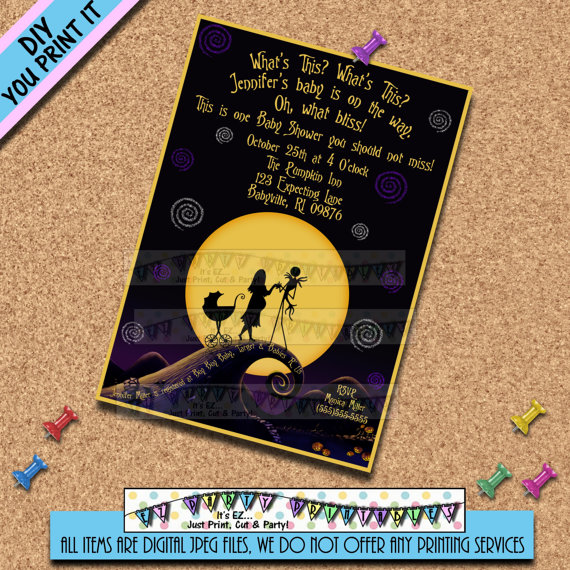 Baby clipart nightmare before christmas. Jack and sally shower