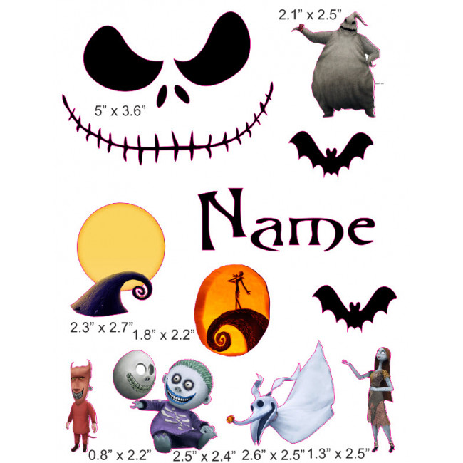 Cranial band decoration from. Baby clipart nightmare before christmas