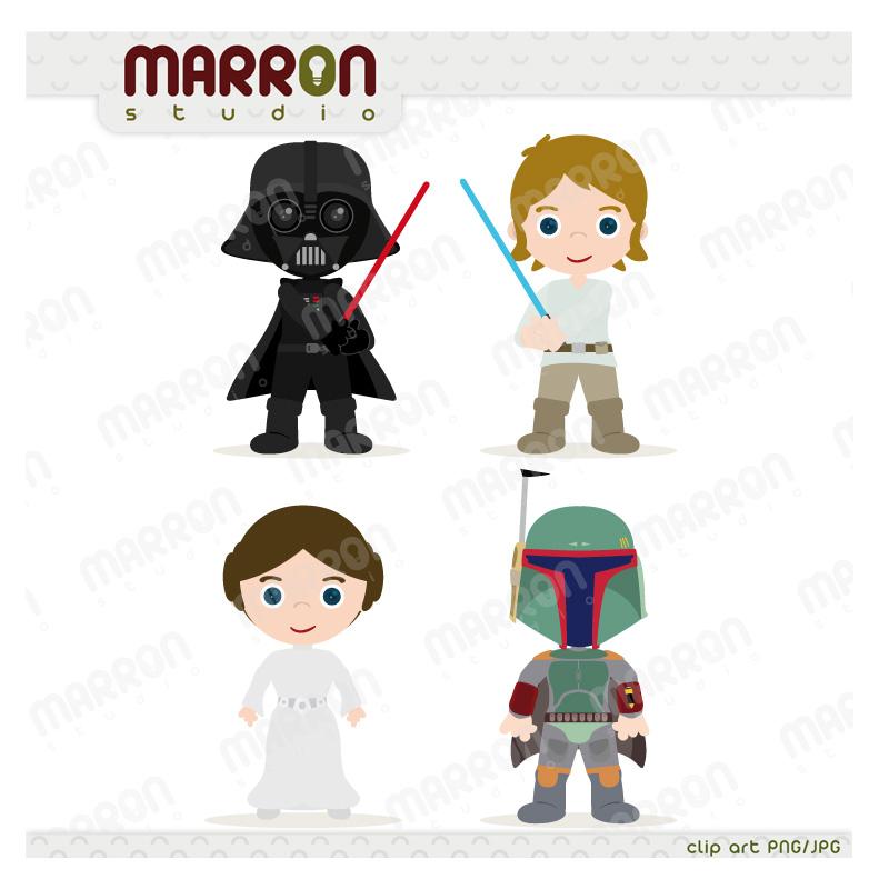 Marron studio star wars. Baby clipart princess leia