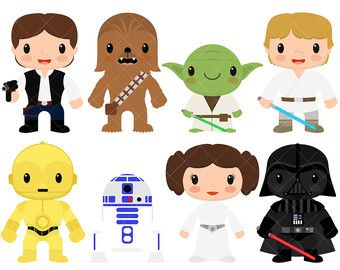 Baby clipart princess leia. Star kids wars by