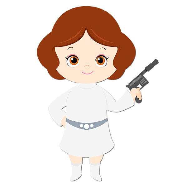Wall stickers for kids. Baby clipart princess leia