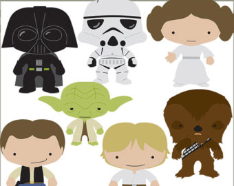 Chewbacca etsy star heroes. Baby clipart princess leia