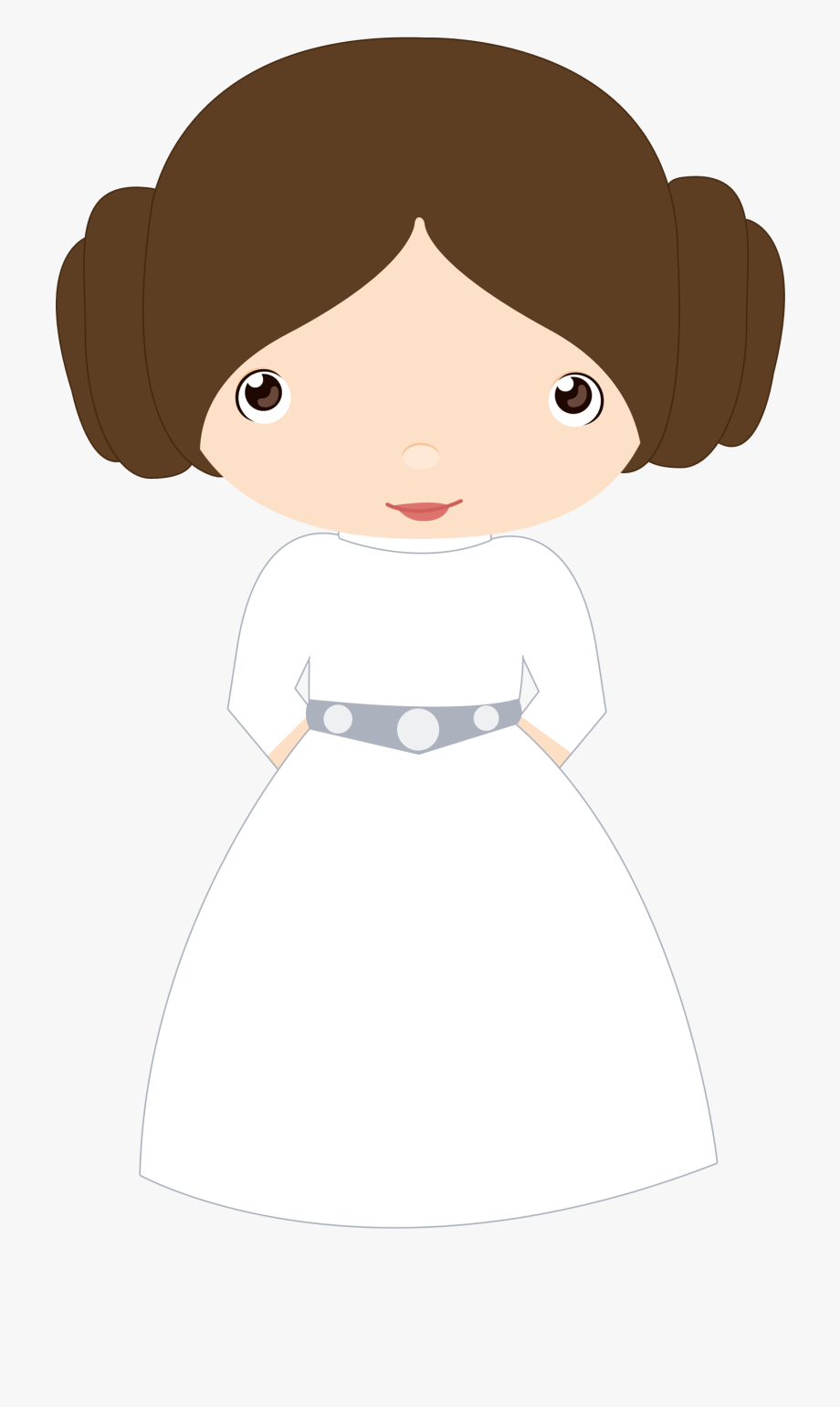 Starwars clipart princess leia. Clip black and white