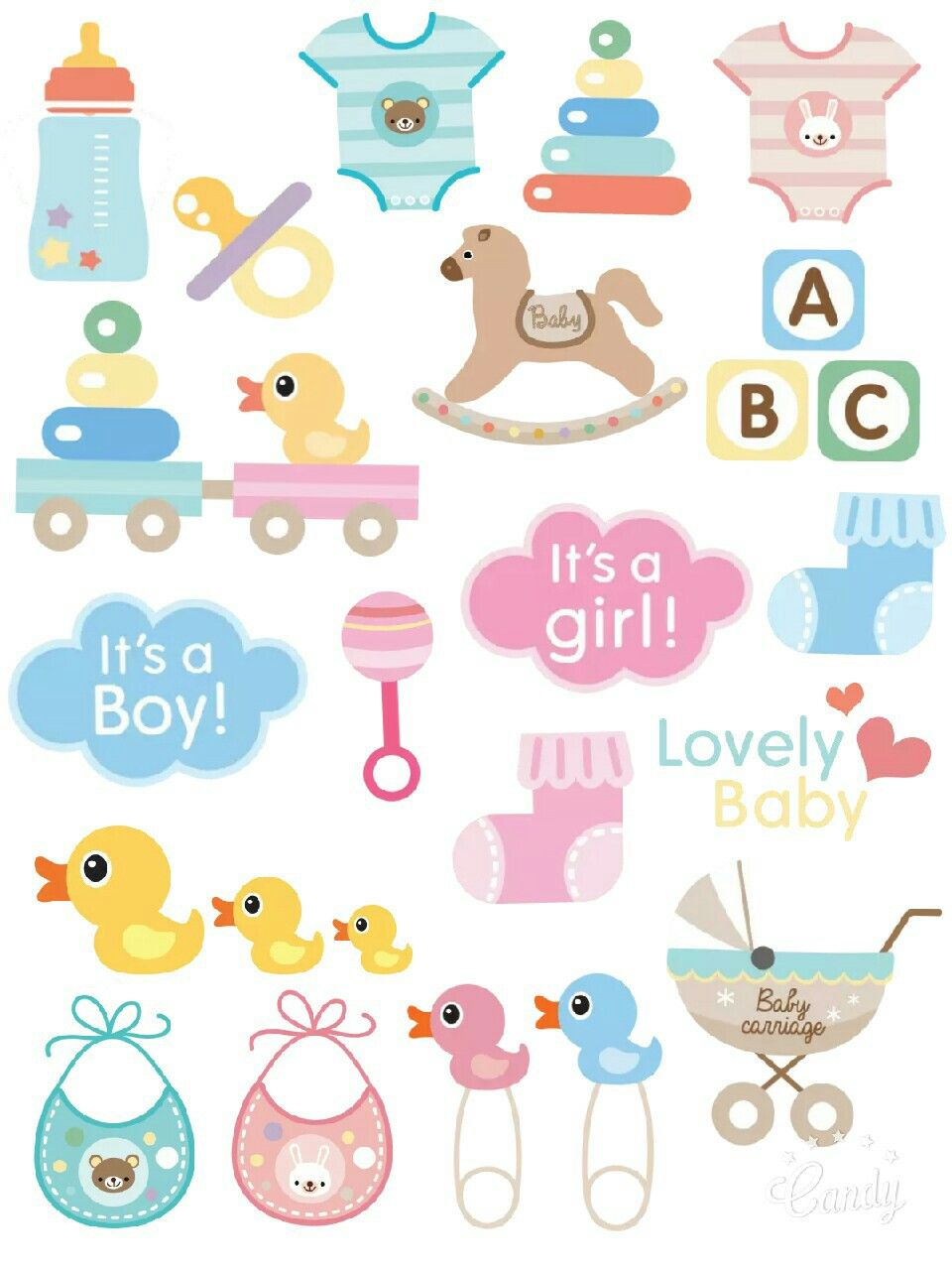 Sticker pintables pinterest. Baby clipart printable