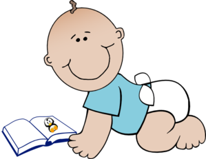 Baby Read Clip Art at Clker